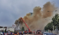 Brand op industrie 't Broek